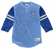 "Texas Rangers Mitchell & Ness MLB ""Home Stretch"" 3/4 Sleeve Henley Shirt"