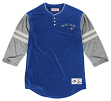 "Toronto Blue Jays Mitchell & Ness MLB ""Home Stretch"" 3/4 Sleeve Henley Shirt"