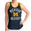 "Michigan Wolverines Women's G-III NCAA ""Comeback"" Jersey Mesh Tank Top"
