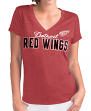 "Detroit Red Wings Women's G-III NHL ""Super Fan"" V-neck Cap Sleeve T-shirt"