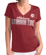 "Alabama Crimson Tide Women's G-III NCAA ""Super Fan"" V-neck Cap Sleeve T-shirt"