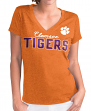 "Clemson Tigers Women's G-III NCAA ""Super Fan"" V-neck Cap Sleeve T-shirt"