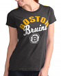 "Boston Bruins Women's G-III NHL ""Tailgate"" Crew Neck Slub T-shirt"