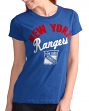"New York Rangers Women's G-III NHL ""Tailgate"" Crew Neck Slub T-shirt"