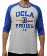 "UCLA Bruins Under Armour NCAA ""Foul Ball"" Men's Dual Blend 3/4 Sleeve T-shirt"