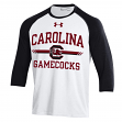 "South Carolina Gamecocks Under Armour ""Foul Ball"" Dual Blend 3/4 Sleeve T-shirt"