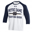 Notre Dame Fighting Irish Under Armour Foul Ball Dual Blend 3/4 Sleeve T-shirt