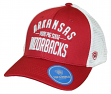 "Arkansas Razorbacks NCAA Top of the World ""Trainer"" Adjustable Mesh Back Hat"