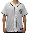 South Carolina Gamecocks Under Armour NCAA Men's Baseball Jersey - White/Black