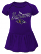 "Baltimore Ravens NFL ""Dazzled"" Newborn Girls Bodysuit Dress"