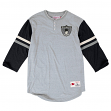 "Oakland Raiders Mitchell & Ness NFL ""Home Stretch"" 3/4 Sleeve Henley Shirt"