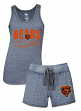 "Chicago Bears Women's NFL ""Good Deed"" Dual Blend Tank & Short Sleep Set"