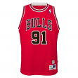 Dennis Rodman Chicago Bulls NBA Youth Throwback Swingman Jersey - Red