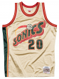 Gary Payton Seattle Supersonics Mitchell & Ness NBA Swingman HWC Jersey - Gold