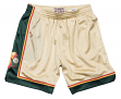 "Seattle Supersonics Mitchell & Ness NBA ""Swingman"" Men's Mesh Shorts - Gold"