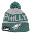 Philadelphia Eagles New Era NFL Super Bowl LII Champions Knit Hat - Gray/Green