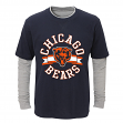 """Chicago Bears Toddler NFL """"Definitive"""" L/S Faux Layer Thermal Shirt"""