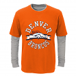 "Denver Broncos Toddler NFL ""Definitive"" L/S Faux Layer Thermal Shirt"