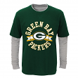 "Green Bay Packers Toddler NFL ""Definitive"" L/S Faux Layer Thermal Shirt"