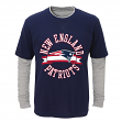 """New England Patriots Toddler NFL """"Definitive"""" L/S Faux Layer Thermal Shirt"""