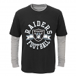 "Oakland Raiders Toddler NFL ""Definitive"" L/S Faux Layer Thermal Shirt"