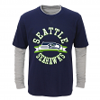"Seattle Seahawks Toddler NFL ""Definitive"" L/S Faux Layer Thermal Shirt"