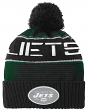 "New York Jets Youth ""Magna"" NFL Reflective Cuffed Knit Hat w/ Pom"