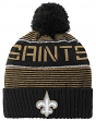 "New Orleans Saints Youth ""Magna"" NFL Reflective Cuffed Knit Hat w/ Pom"