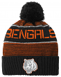 "Cincinnati Bengals Youth ""Magna"" NFL Reflective Cuffed Knit Hat w/ Pom"