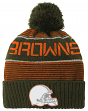 "Cleveland Browns Youth ""Magna"" NFL Reflective Cuffed Knit Hat w/ Pom"