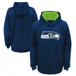 """Seattle Seahawks Youth NFL """"Mach"""" Pullover Hooded Performance Sweatshirt"""