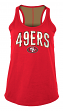 "San Francisco 49ers Women's New Era NFL ""Kickoff"" Racerback Tank Top Shirt"