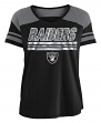 "Oakland Raiders Women's New Era NFL ""Field Goal"" V-Neck Short Sleeve Shirt"