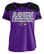 "Baltimore Ravens Women's New Era NFL ""Field Goal"" V-Neck Short Sleeve Shirt"