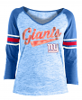 "New York Giants Women's New Era NFL ""End Zone"" Space Dye 3/4 Sleeve Shirt"