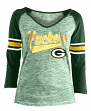 "Green Bay Packers Women's New Era NFL ""End Zone"" Space Dye 3/4 Sleeve Shirt"