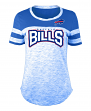 "Buffalo Bills Women's New Era NFL ""Catch"" Space Dye Short Sleeve Shirt"