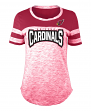 "Arizona Cardinals Women's New Era NFL ""Catch"" Space Dye Short Sleeve Shirt"