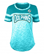 "Miami Dolphins Women's New Era NFL ""Catch"" Space Dye Short Sleeve Shirt"