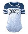"Los Angeles Rams Women's New Era NFL ""Catch"" Space Dye Short Sleeve Shirt"