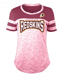 "Washington Redskins Women's New Era NFL ""Catch"" Space Dye Short Sleeve Shirt"