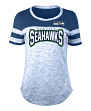 "Seattle Seahawks Women's New Era NFL ""Catch"" Space Dye Short Sleeve Shirt"