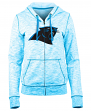 "Carolina Panthers Women's New Era NFL ""Defense"" Space Dye Hooded Sweatshirt"