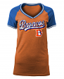 "Denver Broncos Women's New Era NFL ""Classic"" V-Neck Short Sleeve Shirt"