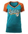 "Miami Dolphins Women's New Era NFL ""Classic"" V-Neck Short Sleeve Shirt"