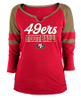 "San Francisco 49ers Women's New Era NFL ""Offense"" 3/4 Sleeve Raglan Shirt"