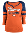 "Denver Broncos Women's New Era NFL ""Offense"" 3/4 Sleeve Raglan Shirt"