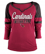 "Arizona Cardinals Women's New Era NFL ""Offense"" 3/4 Sleeve Raglan Shirt"
