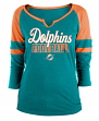 "Miami Dolphins Women's New Era NFL ""Offense"" 3/4 Sleeve Raglan Shirt"