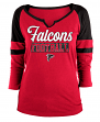 "Atlanta Falcons Women's New Era NFL ""Offense"" 3/4 Sleeve Raglan Shirt"